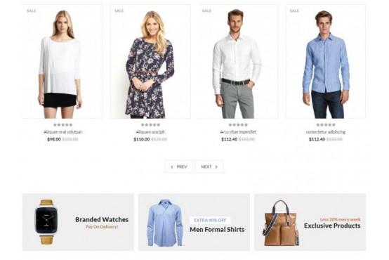 Шаблон Бутик одежды для Opencart 2