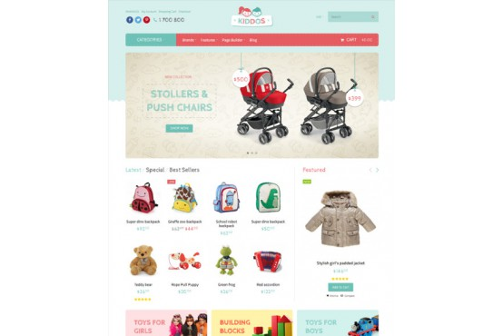 Шаблон Магазин игрушек Opencart 2