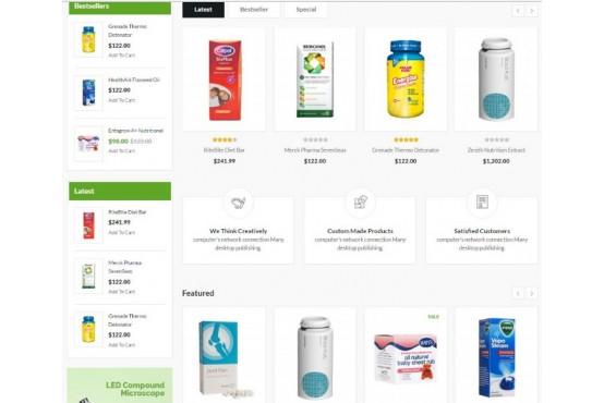 Шаблон Медицинские препараты Opencart 2