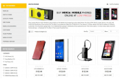 Шаблон Мобильные телефоны Opencart 2